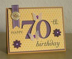 Crafting Creations by Imke: Happy 70 th Birthday