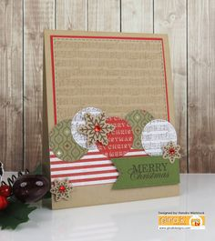 Kendra's Card Company: Gina K Christmas Inspiration Hop Day #1 ~ Coloring with Ink Pads