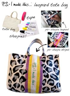 an inexpensive bag, some fun colored Sharpie paint pens, and tape.  This chic design and Sharpie paint pens transformed my canvas bag into a chic personalized bag in minutes.  I of course looked to Louis Vuitton  and Goyard for the racing stripe inspiration!