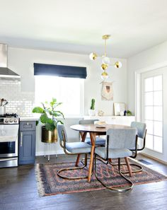 Open floor plans in kitchens will make our dining area appear bigger.