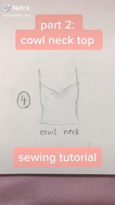 Sewing Basics, Sewing Hacks, Sewing Tutorials, Sewing Projects, Clothing Patterns, Sewing Patterns, Diy Fashion Hacks, How To Make Clothes, Clothing Hacks