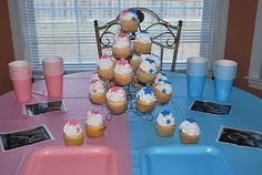 Baby Gender reveal party :) cute and simple Great for immediate family :)