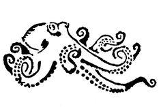 octopus stencil for glasses or bottles