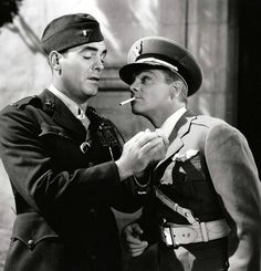 """James Cagney and Pat O'Brien in """"Devil Dogs of the Air"""" (1935)"""