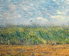 Wheatfield With Lark, van Gogh