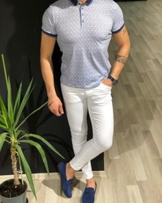 Collection: Spring – Summer 19 Product: Slim Fit Collar T-Shirt Color Code: White Shirt Material: cotton, polyester, elestan Available Size: S-M-L-XL-XXL Machine Washable: Yes Fitting: Slim-Fit Package Include: T-Shirt Only Polo Shirt Outfits, Blazer Outfits Men, Polo Outfit, White Jeans Outfit, Polo T Shirts, Polo Shirt Style, Best Mens Fashion, Men's Fashion, Fashion Apps