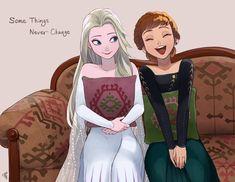 Anna e Elsa Disney Princess Frozen, Elsa Frozen, Frozen Anime, Frozen Movie, Princess Luna, Arte Disney, Disney Pixar, Disney Account, Frozen Drawings