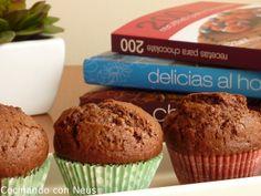 Cocinando con Neus: Muffins de chocolate con crema de cacao