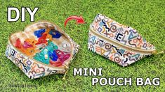DIY Mini Pouch Bag | Wide Open Coin Purse Sewing Tutorial [sewingtimes] - YouTube Small Sewing Projects, Easy Craft Projects, Quilt Tutorials, Sewing Tutorials, Mini, Bag Patterns To Sew, Sewing Basics, Color Rosa, Pouch Bag