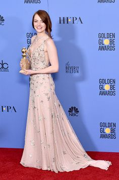 Emma Stone wearing MINNY to the 74th Annual Golden Globe Awards in Los Angeles
