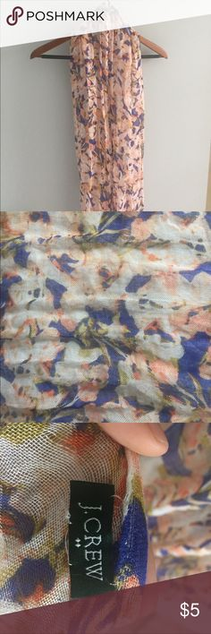 J. Crew Factory Floral Scarf Floral lightweight scarf purchased a couple years ago. Great condition and smoke-free home. J. Crew Factory Accessories Scarves & Wraps