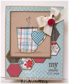 lovely card from Lisa Henke for Unity Stamp Company