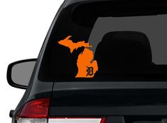 Michigan Detroit Tigers Custom State Map Wall Sticker Vinyl Wall Decal on Etsy, $5.00