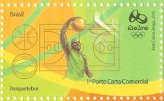 A arte do selo tem como foco os atletas em ação, destacando, numa representação fiel, os movimentos mais característicos do basquetebol....