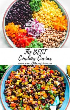 Perfectly serve Cowboy Caviar as a side dish and or as an appetizer The easiest and most simple dip to make in minutes Every bite includes a sharp sweet flavor cowboycaviar Texassalad salad beandip dip salsa beansalsa cowboy cowboyfood caviar Mexican Food Recipes, Whole Food Recipes, Vegetarian Recipes, Cooking Recipes, Healthy Recipes, Cooking Dishes, Chickpea Recipes, Chickpea Salad, Cooking Games