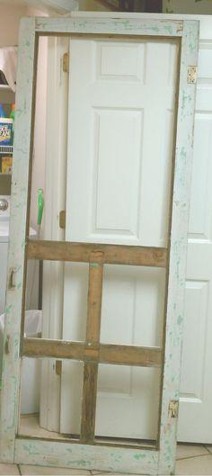 Screen door kitchen pantry DIY tutorial!
