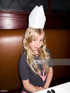 Stock Photo : girl with napkin on her head