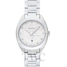 Gucci GG2570 White Dial Diamond Ladies Watch Gucci Watches For Men, Tokyo Shopping, Watch Companies, Diamond, Lady, Diamonds