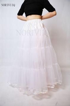 Women Long White Organza Skirts Crinoline Petticoat Bridal Dress Slips  NORIVIIQ White Bridal b9ca31edfc2e