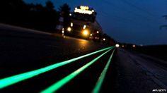 Poupar dinheiro na iluminação pública com estradas que brilham.
