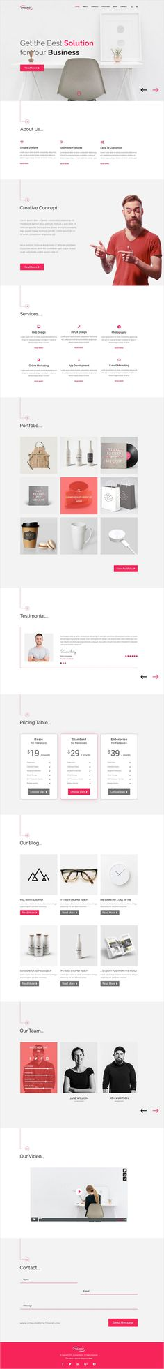 Project is a wonderful premium #Photoshop #theme for your Agency, #Startup or Business website download now➩ https://themeforest.net/item/project-corporate-business-template/18477436?ref=Datasata