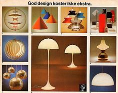 Vintage Verner Panton lighting advertisement