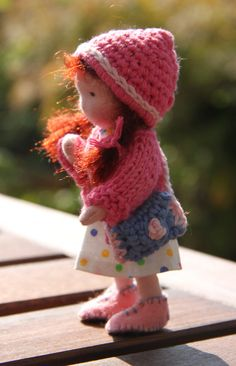 Bendy dollhouse doll waldorf style 45  by ElinedenHaan on Etsy, $24.00