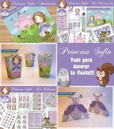 Princesa Sofia: Todo para imprimir y decorar tu fiesta - Invitación, kit  para decorar, kit para golosinas y cajas decorativas http://www.wonkis.com.ar/2014/04/princesa-sofia-todo-para-imprimir-y-decorar-tu-fiesta/