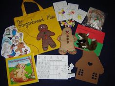 Gingerbread Man literacy bag: use this idea to extend library center. Literacy Bags, Education And Literacy, Preschool Literacy, Preschool Lessons, Gingerbread Man Activities, Story Sack, Book Themes, Early Childhood Education, Book Activities