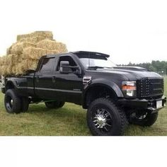 Big black lifted Ford Truck