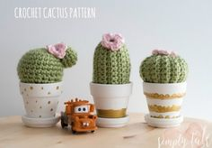 Patron crochet : Les cactus – Made by Amy