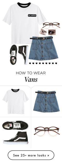"""Untitled #219"" by bringmxthxhorizon on Polyvore featuring Monki, Chicnova Fashion, Wildfox and Vans"