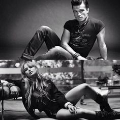 Josh Hutcherson and Jennifer Lawrence: literally the two hottest people on planet Earth..