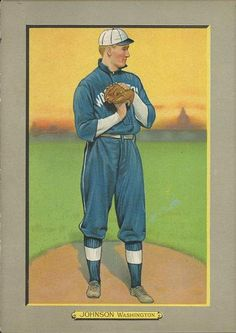 1911 Turkey Red Cabinets T3 #99 Walter Johnson Front