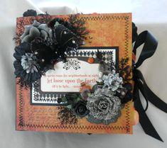Shabby Chic Halloween Night  Chipboard Album - Scrapbook.com