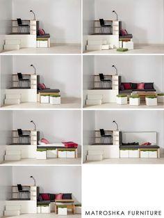Matroshka Furniture is one of our contribitor of ArtMAX Small Bedroom Furniture, Space Saving Furniture, Pallet Furniture, Home Furniture, Furniture Design, Furniture Ideas, Metal Furniture, Teen Room Decor, Bedroom Decor