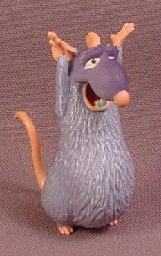 Disney Ratatouille Django Rat PVC Figure, 2 1/4 Inches Tall, Disney Figurine, Pixar