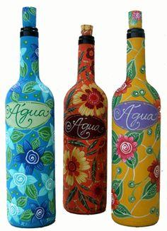 garrafas-decoradas-painted glass