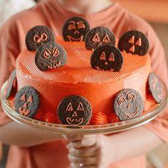 Jack-o'-Lantern Chocolate Cake