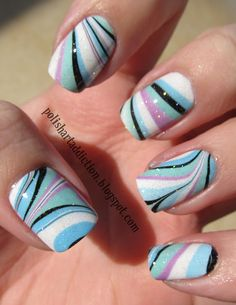water marble art by http://www.polishartaddict.com/