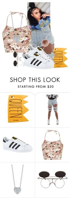 """""""™"""" by xtiairax ❤ liked on Polyvore featuring adidas, Topshop, Roberto Coin and Accessorize"""