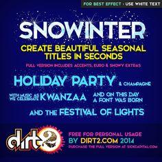 Snowinter Font | dafont.com