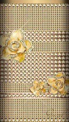 By Artist Guzel. Rose Flower Wallpaper, Diamond Wallpaper, Bling Wallpaper, Metallic Wallpaper, Luxury Wallpaper, Flower Backgrounds, Screen Wallpaper, Wallpaper Backgrounds, Cellphone Wallpaper