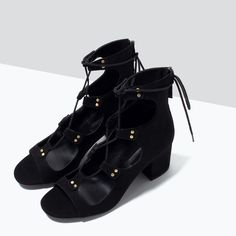 ZARA - SHOES & BAGS - LACE-UP HIGH-HEELED SANDALS