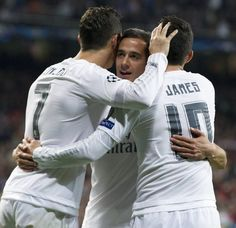 Cristiano Ronaldo, Lucas Vázquez & James