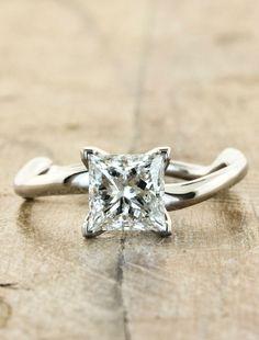 Unique Engagement Rings Ken & Dana Design - Aurora Princess front view