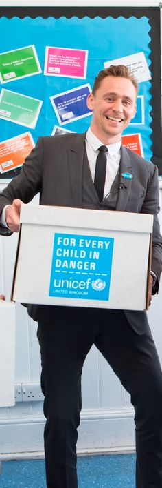 """""""Education is a vital source of safety and hope for children, allowing them to learn, play and escape the horrors of war and disasters."""" - Tom Hiddleston http://www.unicef.org.uk/Media-centre/Press-releases/Put-children-at-the-top-of-the-agenda-at-the-World-Humanitarian-Summit---Tom-Hiddleston/#.VyoWj_DT404.twitter Full size image: http://i.imgbox.com/6P7Iof3T.jpg"""
