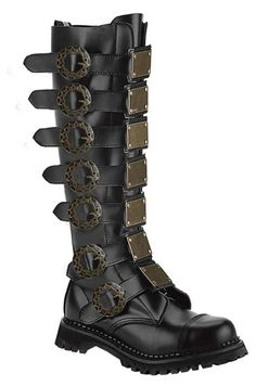 STEAM-30 Black Leather Boots - cool but do i want them?