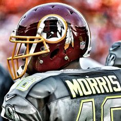 A great shot of Alfred Morris from the 2014 Pro Bowl. #HTTR But Football, Nfl Football Teams, Football Baby, Football Helmets, Sports Teams, Redskins Cheerleaders, Redskins Football, Redskins Fans, Redskins Gear