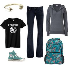 Hunger Games, created by lonelyspiral on Polyvore - what I want to wear when we travel to the USA later this year